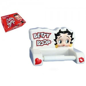 d rouleur papier wc betty boop blanc la boutique des toons. Black Bedroom Furniture Sets. Home Design Ideas