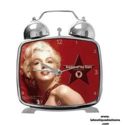 Réveil métal Marilyn Monroe Legend