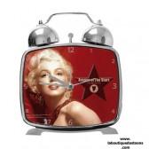 Reloj despertador metal Marilyn Monroe la leyenda