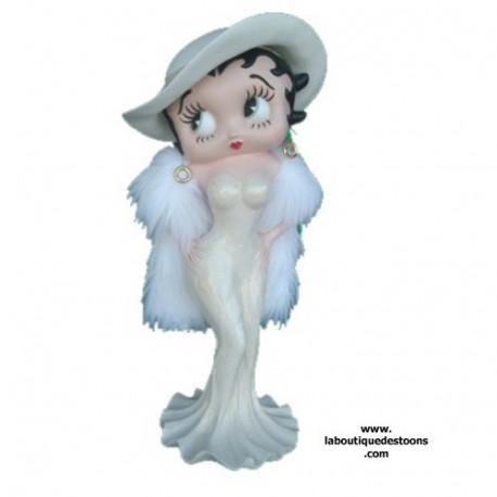 Statuette Betty Boop Madame Robe crème 98 CM