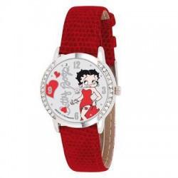 Horloge rood lederen Betty Boop