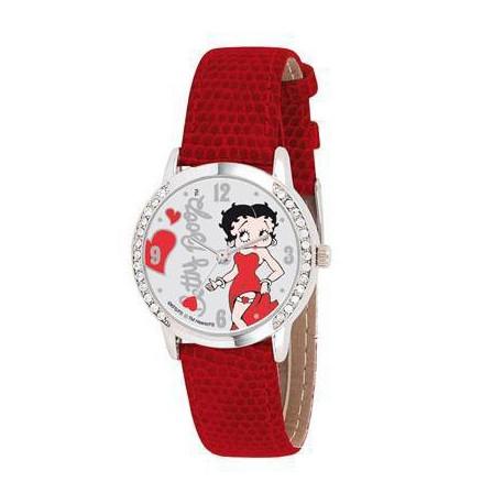 Orologio rosso in pelle Betty Boop
