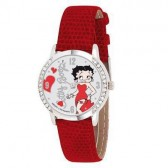 Orologio rosso in pelle Betty Boop
