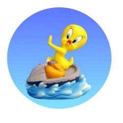 Figurine Tweety Jet ski