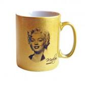 Taza de oro Marilyn Monroe estrella