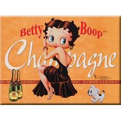 Carte postale métal Betty Boop