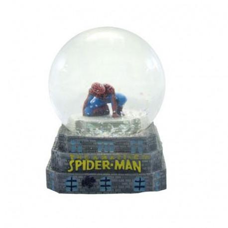 Nieve de la bola Spiderman figura de acción