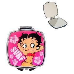 Mirror pink Betty Boop surfing