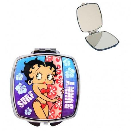 Miroir Betty Boop Surf bleu