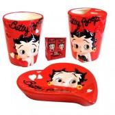 Conjunto rojo Betty Boop baño