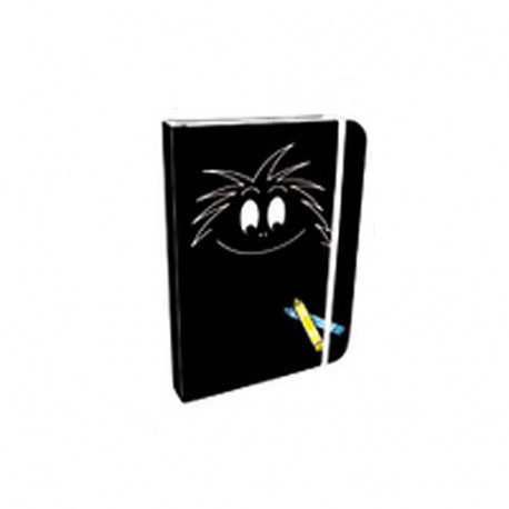 Black notebook A6 Barbouille