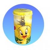Banca piggy Tweety gialla in metallo