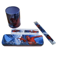 Set scolaire pot a crayons Spiderman