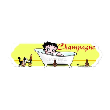 Betty Boop Handdoek.Opknoping Handdoek Betty Boop