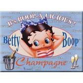 Plaque métallique Betty Boop