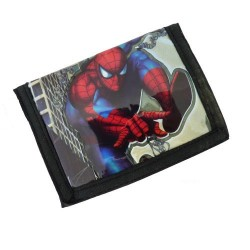 Portafoglio uomo ragno rosso e nero