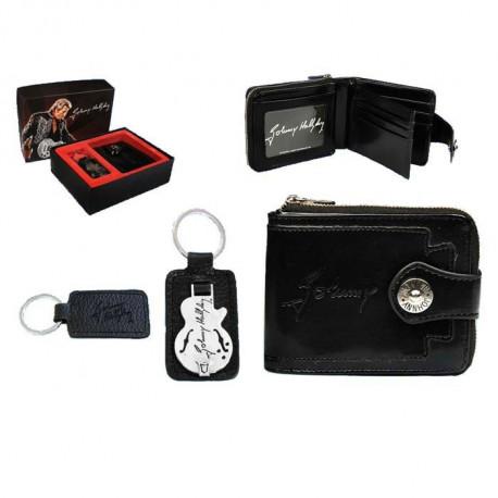 Caja de regalo de guitarra de Johnny Hallyday cartera