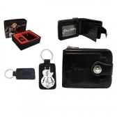 Johnny Hallyday portfolio guitar gift box