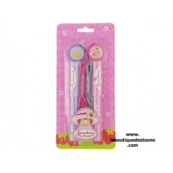 Set of 2 pens Charlotte Strawberry