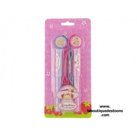Set of 2 pens Charlotte Strawberry
