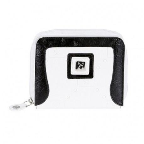 Porte monnaie Playboy White & Black