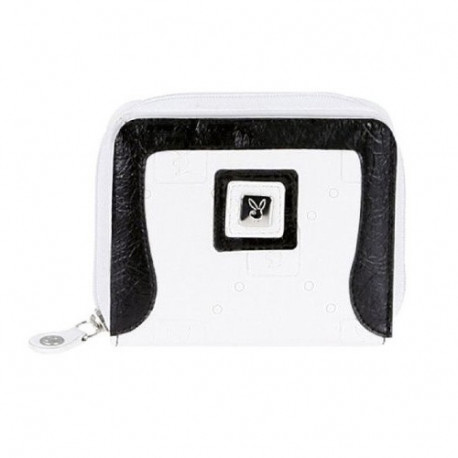 Porte monnaie Playboy White & Black