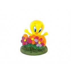 Figurine Tweety flowers