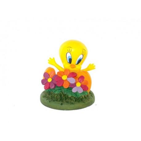 Beeldje Tweety bloemen