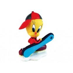 Snowboarder Tweety figurina