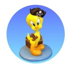 Beeldje Tweety piraat