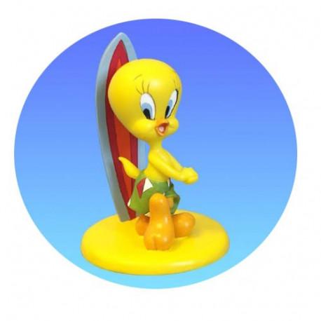 Figurine Tweety surfer