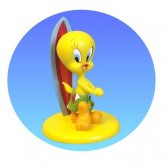 Figurine Tweety surfer