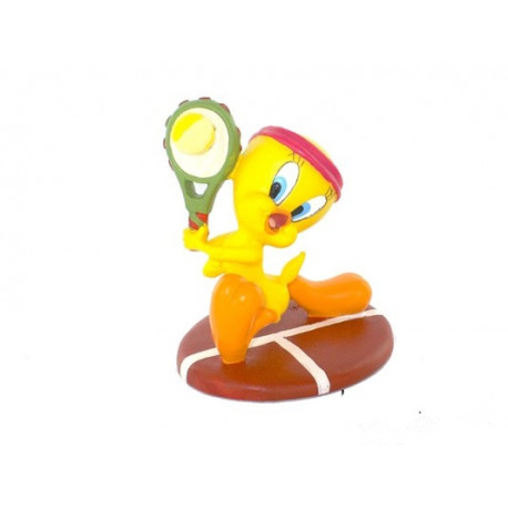 Figurine Tweety tennis