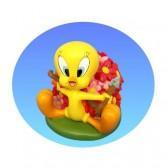 Salvadanaio Tweety fiori