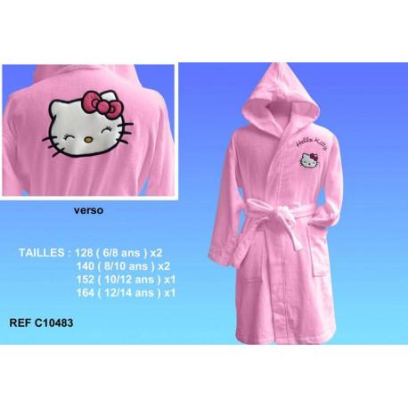 Pink Hello Kitty albornoz - Tamaño: 140 (8/10 años)