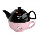 Corazón de Barbapapa taza de té herbal