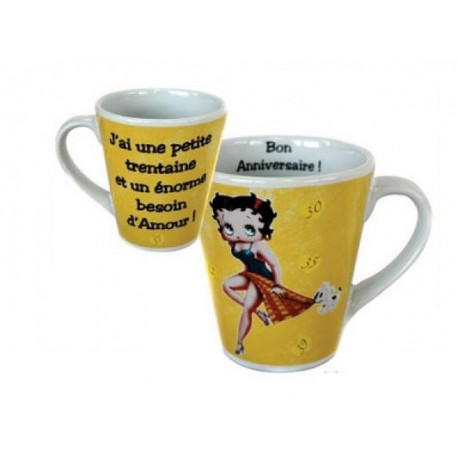Mug Conique Betty Boop la trentaine