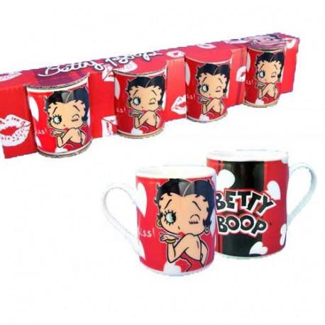 Tazza di caffè Betty Boop Set di 4