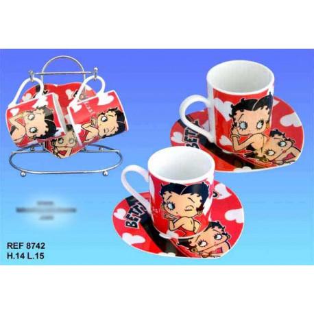 Cups Betty Boop rode set 2