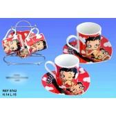 Tasses Betty Boop rouge set de 2