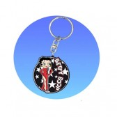 Betty Boop star key ring