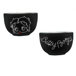 Bowl Betty Boop black rhinestones