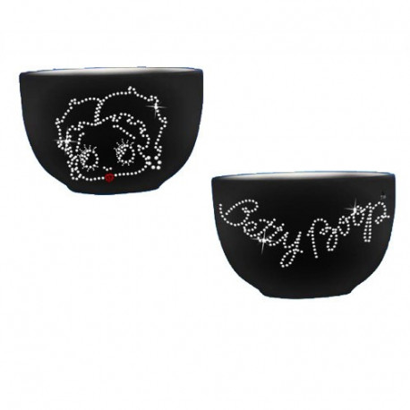 Betty Boop Black Strass Bowl